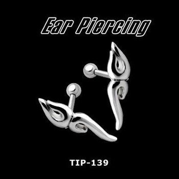 KOLCZYK PIERCING DO UCHA TRIBAL 2 SREBRO [TIP-139]