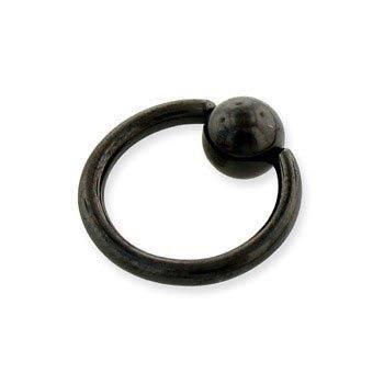 KółKO ZAMYKANE KULKą CAPTIVE BEAD RING BLACK LINE grubość 1,6mm średnica kulki 4mm