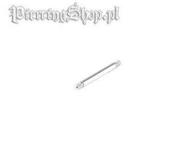 TYTANOWY PRęCIK PROSTY BARBELL grubość 1,2mm