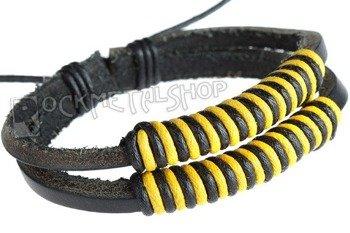 bransoletka podwójna czarno-żółta