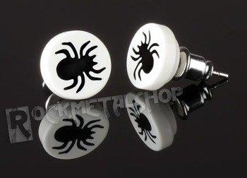 kolczyk BLACK SPIDER biały
