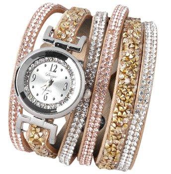 bransoletka/zegarek LUXURY SILVER GOLD