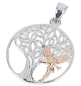wisior/zawieszka ELVISH TREE, srebro 925