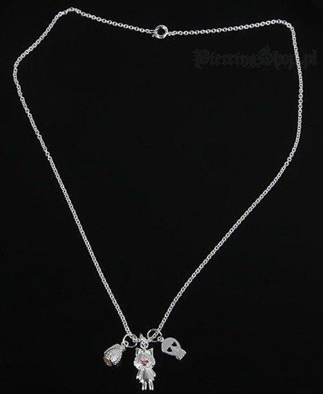 Srebrny łańcuszek GRANAT CZACHA DZIEWCZYNKA oczko czerwone [SPE-46]