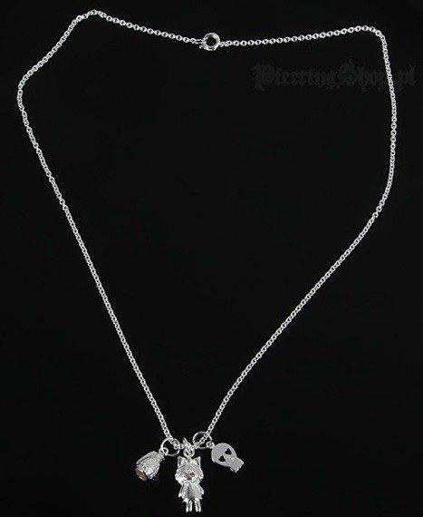 Srebrny łańcuszek GRANAT CZACHA DZIEWCZYNKA oczko różowe [SPE-46]