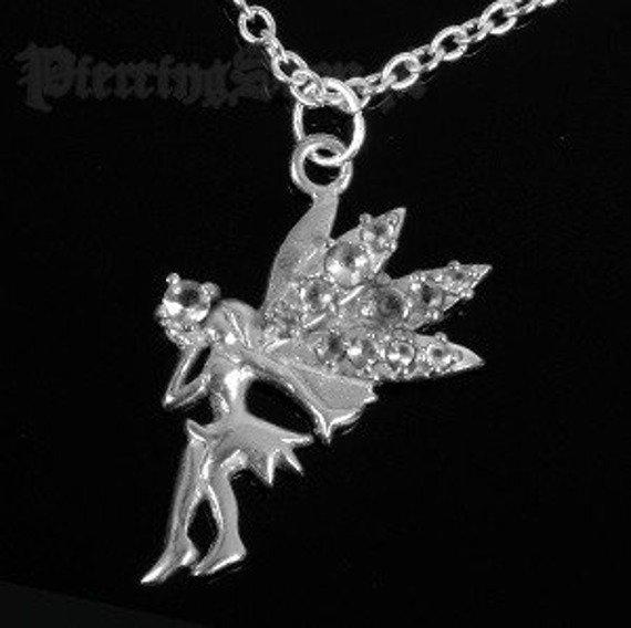 Srebrny łańcuszek WRÓŻKA oczko crystal [SPE-48]