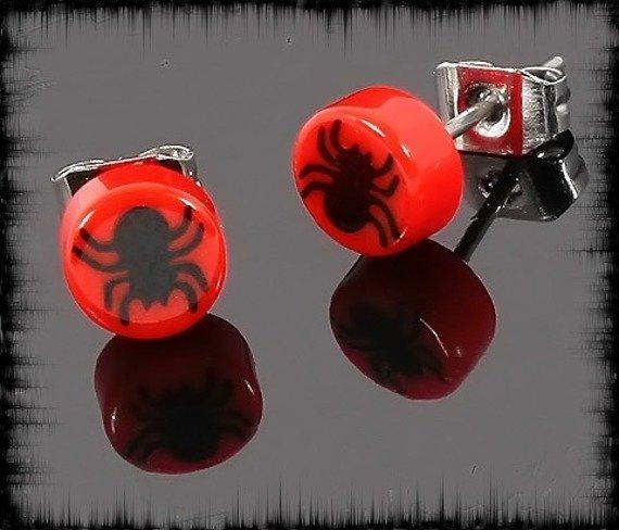 kolczyk BLACK SPIDER czerwony