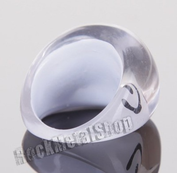 pierścień WZOREK biały